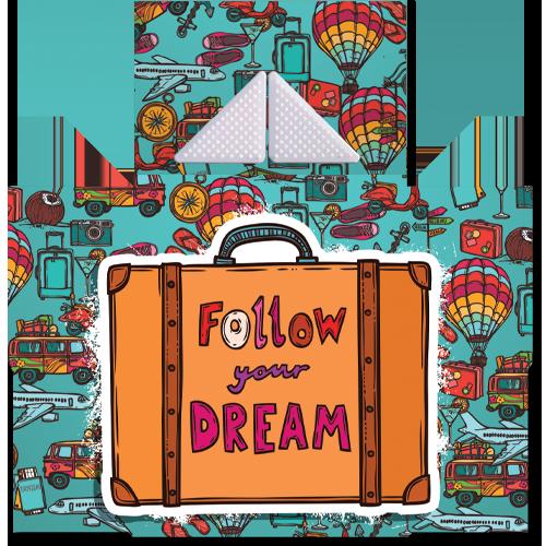 קססונית דגם Follow Your Dream עם גריינדר