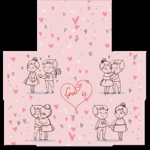 קססונית דגם Love is - פתוחה