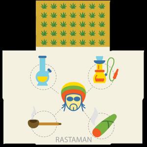 קססונית דגם Rastaman - פתוחה
