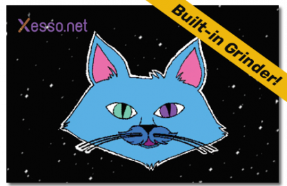 Xesso.net Space Cat with built-in weed grinder