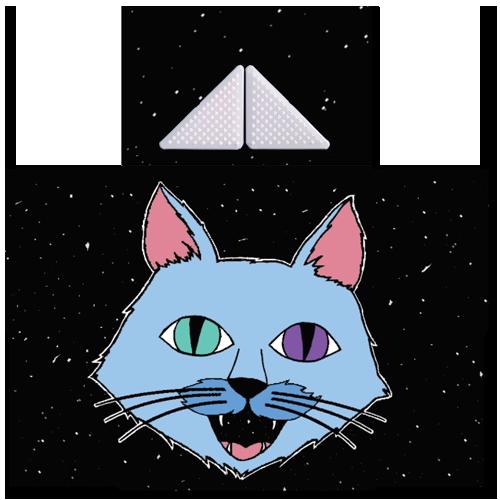 קססונית דגם חתול על-חלל עם גריינדר